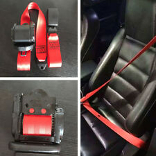 1pcs/Set Adjustable Red Retractable Car Seat Belt Lap 3 Point Safety Universal