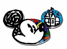 RARE LE JUMBO Disney Pin✿Mickey Mouse Celebrating Years Kid Dream Castle Sketch