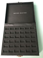 Authentic Black HENRI DAUSSI Rings Jewelry Box 200mm x 200mm.