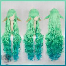 New LOL Magic Girl Star Mother Star Guardien Soraka Cosplay Wig Green Curly Wig
