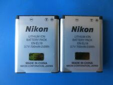 x2 Genuine Nikon EN-EL19 Li-ion Batteries VGC Tested Fast Free Delivery
