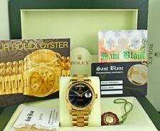 ROLEX - Mens 18kt Gold Day Date Bark PRESIDENT Black Stick 18078 - SANT BLANC