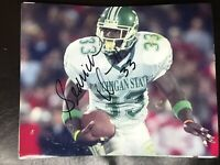 Sedrick Irvin Signed Michigan State Football 8x10 Photo Spartans Autographed Coa