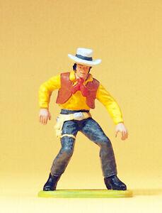 """Preiser 54804 Maßstab 1:25 Figur """"Cowboy Revolver ziehend"""" #NEU in OVP#"""