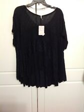 Nwt Free People Black  Top Size XS