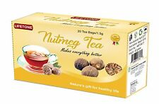 Nutmeg Tea: Antidote for Insomnia, Liver and Kidney Detox Agent,40 Tea bags,80g
