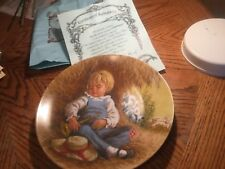 Little Boy Blue Decorative Plate- Mother Goose Series 1980 John McClelland