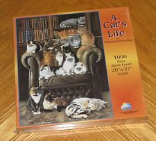 "Pollyanna Pickering Art - A Cat's Life - 1000 Pc Cat Puzzle 20"" x 27"" - Sealed"