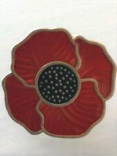 Brooch Lapel Pin Red Poppy Pin Badge