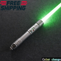 Star wars Kit Fisto Lightsaber RGB 16 Color Dueling Rechargeable Metal Handle