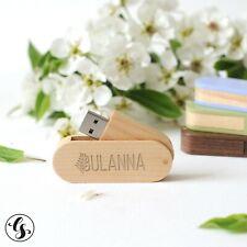 Custom Wood USB Flash Drive Memory Stick Pendrive Photo Studio Logo 16GB