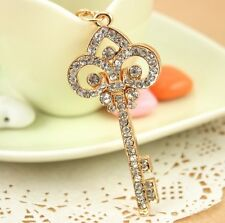 Vintage Key Style Love Pendent Crystal Purse Bag Keyring Chain Gift Hot Selling