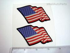 New listing (2) New! American Usa Flag head/hood/back/trunk domed Emblem car decal sticker
