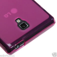 LG Optimus L9 T-Mobile P769 Soft Case Candy Skin Cover Transparent Hot Pink