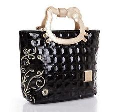 HelloKitty Black Handbag Tote Shoulder Bag 2017  New Pu Flower
