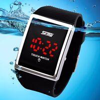SKMEI Men Smart Touch Screen Electronic LED Digital Waterproof Square Dial Watch
