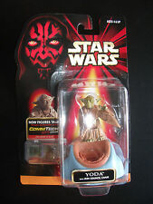 Hasbro Star Wars Episode 1 Yoda w/ Jedi Council Chair and Commtech Chip 1998