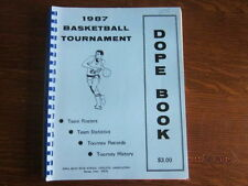 1987 Iowa High School Boys State Basketball Championship Dope Book