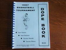 1987 Iowa High School Boys State Basketball Championship Dope Book