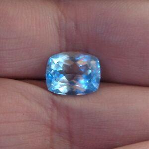 Sri Lankan Natural Sky Blue Topaz Cushion Cut 10mm x 8mm  - 10 pcs lot 34.25 ct