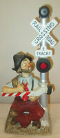 "1994 WACO Willie the Hobo Melody In Motion Porcelain ""Railraod crossing WILLIE"""