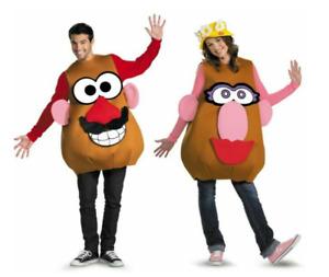Adult Mr or Mrs Potato Head Unisex Costume Mens Womens Novelty Fancy Dress O/S