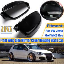 Paar Schwarz Gehäuse Außenspiegelkappen Für VW Golf MK5 Plus Jetta Passat Sharan