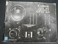 Canon Genuine A-1 1981 Camera Instruction Book / Manual / User Guide