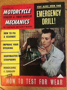 Motorcycle Mechanics Magazine September 1961 (60pages) Huntsman, Zundapp etc