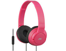 JVC HA-SR185 RED Lightweight Powerful Bass Headphones with Remote & Microphone