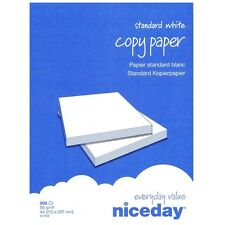 NICEDAY WHITE A4 80GSM PRINTER COPIER OFFICE PAPER / 5 REAMS / 2500 SHEETS / BOX