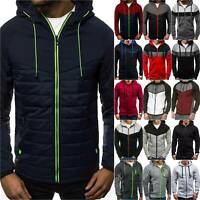 Mens Zipper Hoodie Jacket Hooded Sweatshirt Sports Coat Winter Warm Tops Sweater