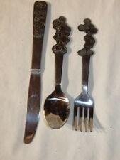 Walt Disney Mickey Mouse Stainless by Bonny Children's Knife Fork Spoon Set #1