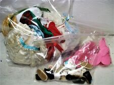 HUGE Vtg EFFANBEE Doll Clothes Lot (7) Pairs Shoes DRESSES Slips COMBS Hats etc