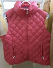 BNWT RALPH LAUREN PINK VEST DOWN PACKABLE GILET, NEW WITH TAGS, SIZE XL