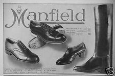 PUBLICITÉ 1931 MANFIELD CHAUSSURES D'ÉQUITATION GOLF POUR LE SPORT- ADVERTISING