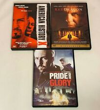 Lot Of 3 Edward Norton Dvd's - American History X, Pride And Glory, Red Dragon