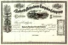 186_ Roberts Petroleum Torpedo Stock Certificate -- Historic PA oil company