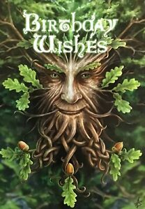 Pagan Wiccan Anne Stokes 'Oak King' Greeting Card Birthday Wishes~Green Man AN18