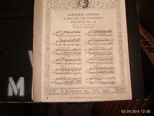 Chopin, ed. Friedheim: Etude in F Minor, piano solo (Schirmer)