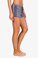 New PJ SALVAGE Haute Spot Charcoal Grey Polka Dot Lace Lounge & Sleep Shorts M