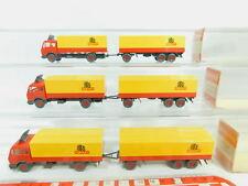 BO742-0,5# 3x Wiking H0/1:87 455 Fernlastzug/LKW Mercedes/MB 1632 Holert, OVP