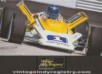 2018 Joe Leonard Vintage Indy Registry '72 Indy 500 PRI Show Indy Car postcard