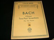 BACH<>TWO-PART INVENTIONS <>SCHIRMER'S LIBRARY<>COPYRIGHT 1927°G SCHIRMER