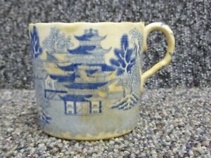 Antique Chinese Blue & White Pottery Small Mug / Cup Chinese Export Piece