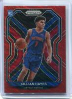 2020-21 Panini Prizm NBA Killian Hayes Red Ruby Wave RC Pistons Rookie #270 2021