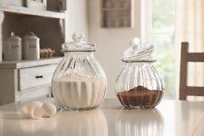 Bonboniere aus Glas, klein Bonbonniere Bonbon Vorrats Keks Dose mit Deckel