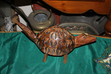 Vintage Wood Carved Opossum Critter-Detailed Wood Animal Carving-Tribal Opossum