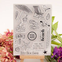 Clear stamps Sea Travel to beach rubber Silicone stamps Scrapbooking craft  IJ
