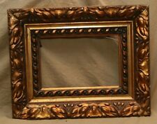 "Antique Vintage Gesso Decorated Gold Painted Decorative Picture Frame 9.5""x6.5"""